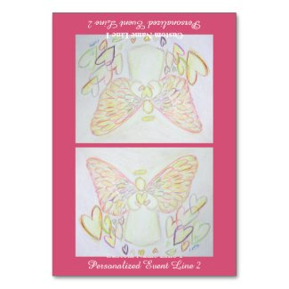 Angel of Hearts Inspirational Custom Table Tent Table Number