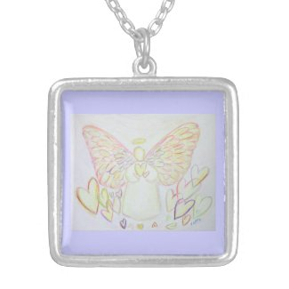 Angel of Hearts Jewelry Art Charm Necklaces