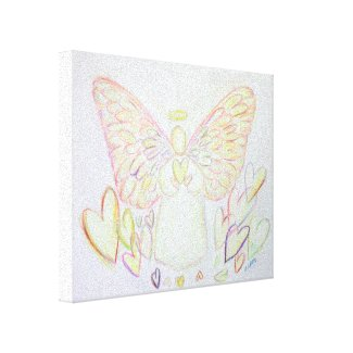 Angel of Hearts Painting Wrapped Canvas Art
