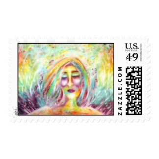 """Angel Of Imperfection"" Art by Victoria Lynn Hall Postage Stamp"