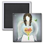 Angel Of Kindness 2 Inch Square Magnet