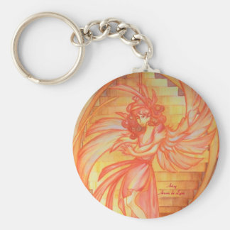 Angel of Life Basic Round Button Keychain