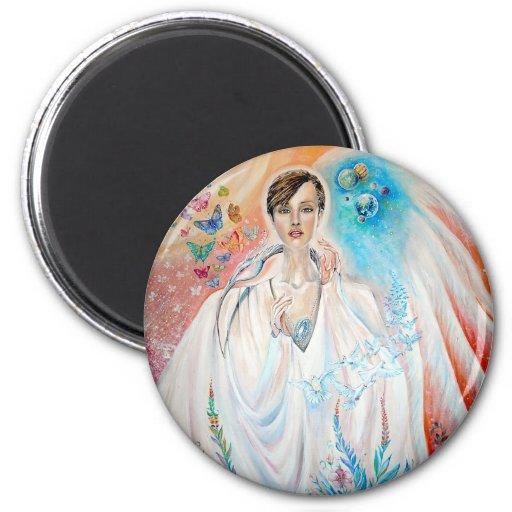 Angel of Light 2 Inch Round Magnet