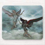 Angel of Light and Darkness Mouse Pad