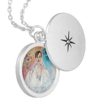 Angel of Light Round Locket Necklace