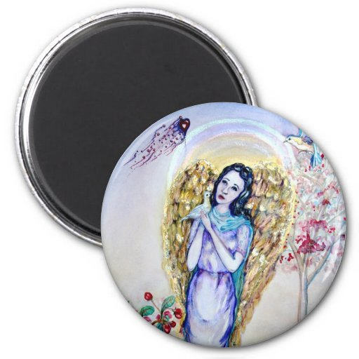 Angel of Love and Protection 2 Inch Round Magnet