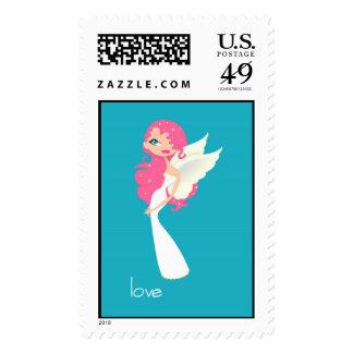 Angel of Love Postage Stamp