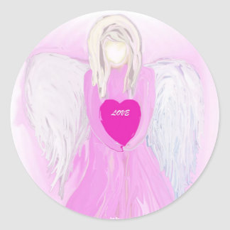 Angel Of Love Round Sticker