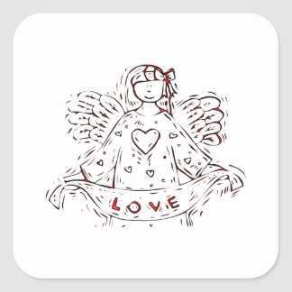 Angel of Love Square Sticker