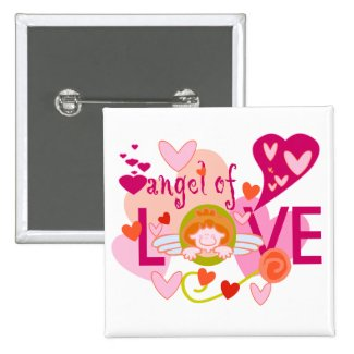 Angel of Love Valentine Buttons