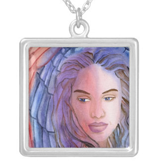 Angel Of Mons Square Pendant Necklace