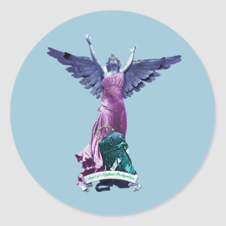 Angel of Mystical Backpackers Sticker