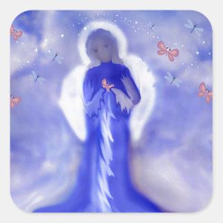 Angel Of Peac Square Sticker
