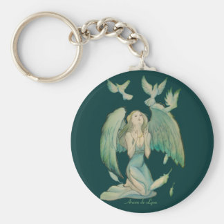 Angel of Peace 2 Basic Round Button Keychain