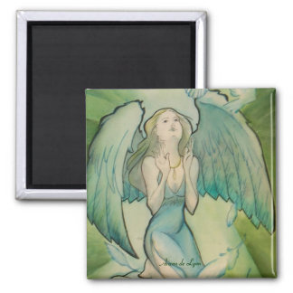 Angel of Peace 2 Inch Square Magnet