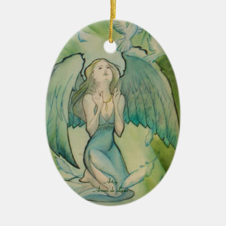 Angel of Peace Ceramic Ornament