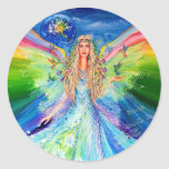 Angel of Peace Classic Round Sticker