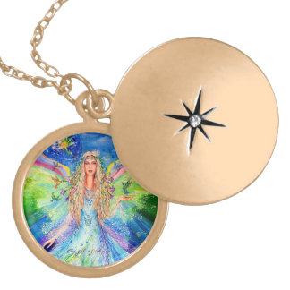 Angel of Peace Locket Necklace