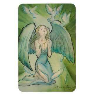 Angel of Peace Rectangle Magnet