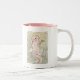 Angel Of Peace Two-Tone Coffee Mug
