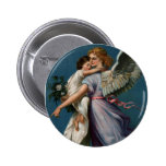 Angel of peace vintage design (1901) button/pin