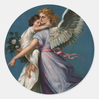 Angel of peace vintage design (1901) sticker