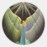 Angel of power sticker round sticker