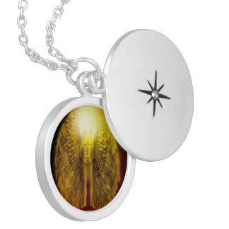 'Angel of Protection' Silver Plated Locket