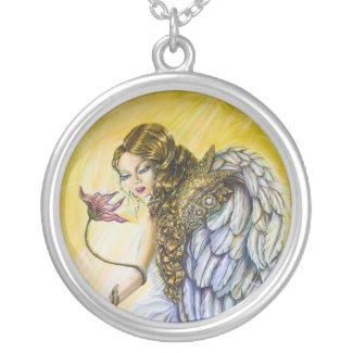 Angel of Repentance Silver Plated Necklace