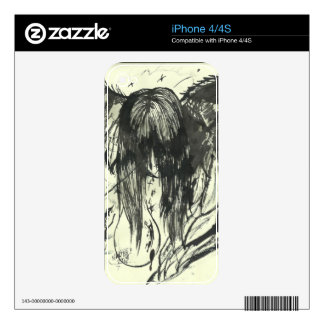 Angel of Sadness phone skins iPhone 4S Decal