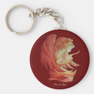 Angel of Spirit 2 Basic Round Button Keychain