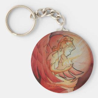 Angel of Spirit Basic Round Button Keychain