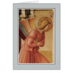 Angel of the Annunciation by Fra Angelico Greeting Card