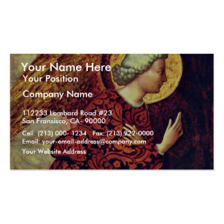 Angel Of The Annunciation By Masolino (Best Qualit Business Card Templates