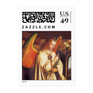Angel of the Annunciation, Christmas Greetings Postage