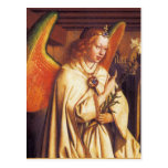Angel of the Annunciation ,detail, Parchment Postcard