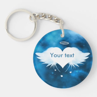Angel of the Heart - Double-sided round keychain