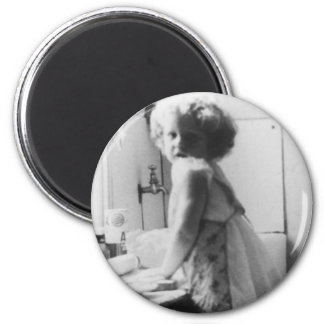 Angel of the House 2 Inch Round Magnet
