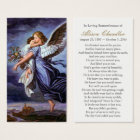 Angel of the Lord Funeral Sympathy Prayer Card