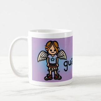 angel of the morning (cup of coffee). coffee mug