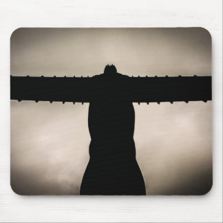Angel of the North silouette Mouse Pad