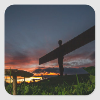 Angel Of The North Square Sticker