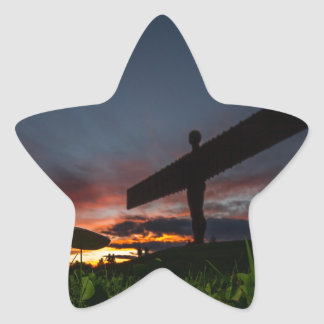 Angel Of The North Star Sticker