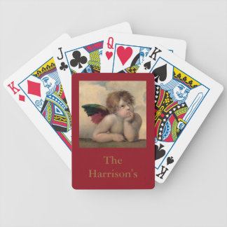 Angel of the Sistine Madonna by Raphael Bicycle Playing Cards