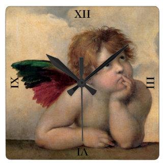 Angel of the Sistine Madonna by Raphael Wallclock