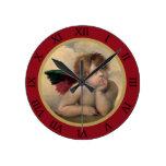 Angel of the Sistine Madonna by Raphael Clocks