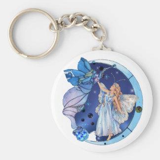 Angel Of The Skies Basic Round Button Keychain