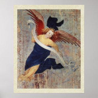 Angel of the Visitation  by Broederlam Print