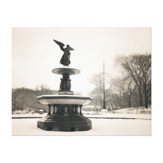Angel of the Waters Central Park Canvas Print