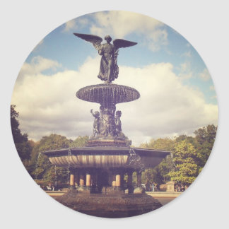 Angel of the Waters, Central Park, New York City Classic Round Sticker